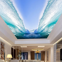 Load image into Gallery viewer, Custom Any Size 3D Wall Mural Wallpaper Seawater Huge Waves Bedroom Living Room Sky Suspended Ceiling Decor Painting Wallpaper - WallpaperUniversity