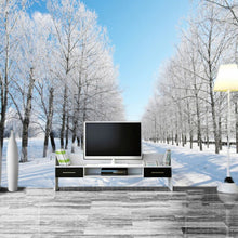 Load image into Gallery viewer, Custom Size 3D Wall Murals Wallpaper Winter Snow Tree Road Living Room TV Backdrop Painting Wall Covering Wall Papers Home Decor - WallpaperUniversity