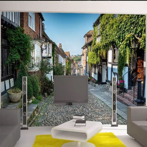 Custom 3D Photo Wallpaper Fantastic Scenery Stone Path Green Mural Wallpaper Living Room Sofa Bedroom Mural Flower Decoration - WallpaperUniversity