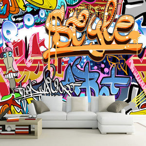 Custom Photo Wallpaper Non-woven 3D Abstract Graffiti Art Large Wall Painting Living Room Bar TV Background Wall Mural Wallpaper - WallpaperUniversity