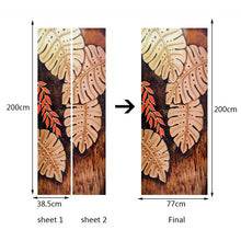 Load image into Gallery viewer, 3D Stereoscopic Golden Leaves Door Sticker Wall Papers Home Decor Living Room Bedroom Door Decoration DIY Self-Adhesive Stickers - WallpaperUniversity