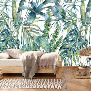 Custom 3D Photo Mural Wallpaper Hand Painted Leaves Nordic Style Living Room Sofa Bedroom TV Background Decor Art Wall Painting - WallpaperUniversity