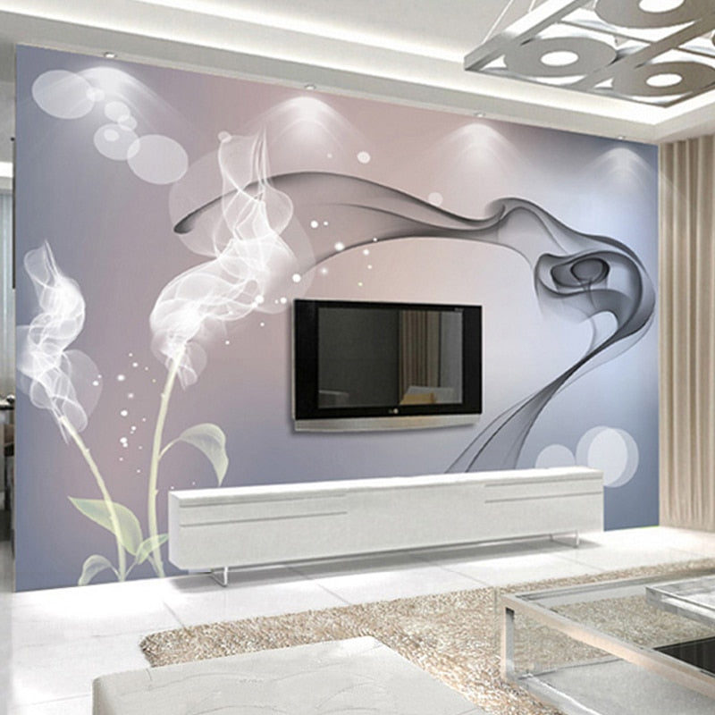 Custom Mural Wallpaper Personalized Non-woven Wall Covering Abstract Modern Minimalist Black And White TV Backdrop Wallpaper - WallpaperUniversity