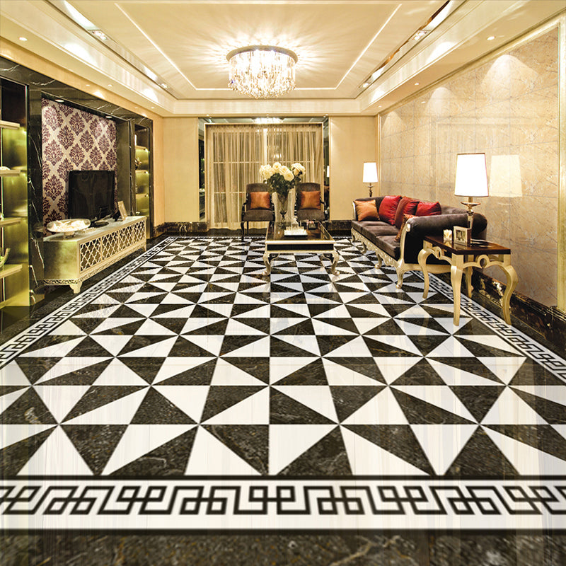 Custom 3D Floor Murals European Style Imitation Marble Living Room Study Bedroom Floor Decoration Mural Wallpaper Self-adhesive - vouswall.com