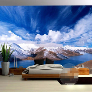 Custom 3D Photo Wallpaper Snow Mountain Nature Landscape Photography Background Wall Painting Mural Wallpapers For Living Room - WallpaperUniversity