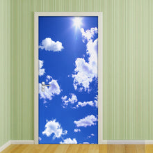 Load image into Gallery viewer, 3D Door Mural Wallpaper PVC Waterproof Self-adhesive Wall Sticker Blue Sky And White Clouds 3D Bedroom Door Stickers Home Decor - WallpaperUniversity