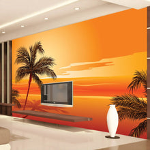 Load image into Gallery viewer, Custom 3D Photo Wallpaper Southeast Asian Style Beach Sunset Photography Background Wall Decor Living Room Wall Mural Wallpaper - WallpaperUniversity