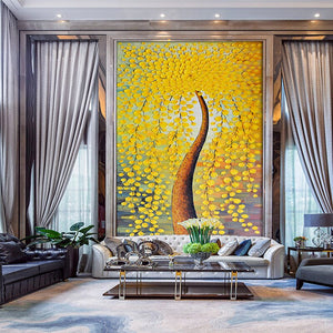 Custom Mural Wallpaper European HD Stereoscopic Oil Painting Money Tree Art Wall Mural Entrance Bedroom Home Decoration Painting - WallpaperUniversity