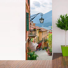 Load image into Gallery viewer, Creative DIY Self-adhesive 3D Door Sticker Mural Wallpaper Town Scenery Living Room Bedroom Door Stickers Home Decor Wall Paper - WallpaperUniversity
