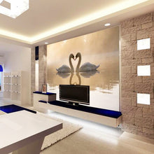 Load image into Gallery viewer, Custom 3D Wall Mural Wallpaper Roll Romantic Swan Living Room Bedroom TV Background Home Decor Non-woven Wallpaper Wall Painting - WallpaperUniversity