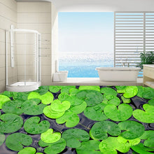 Load image into Gallery viewer, Custom Photo Wallpaper Modern 3D Green Leaves Floor Decor Paintings Bathroom Kitchen Waterproof Non-slip Self-adhesive Wallpaper - WallpaperUniversity
