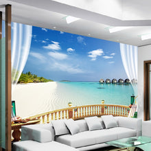Load image into Gallery viewer, Custom 3D Photo Wallpaper Beach Seaview Large Wall Painting Living Room Sofa Bedroom TV Background Decoration Wallpaper Murale - WallpaperUniversity