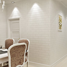 Load image into Gallery viewer, CLASSIC WHITE PAINTED BRICK Wallpaper Wall Covering - WallpaperUniversity