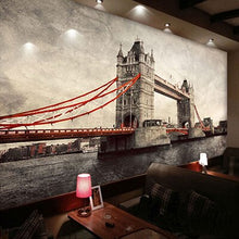 Load image into Gallery viewer, Customize Any Size Office Den Living Room Backdrop Wall Murals European Art Mural 3D Stereo Non-woven Wallpaper London Bridge - WallpaperUniversity