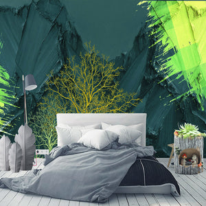 Custom 3D Wallpaper For Bedroom Walls Modern Art Mural Abstract High Mountain Tree Living Room Sofa Background Photo Wall Paper - WallpaperUniversity
