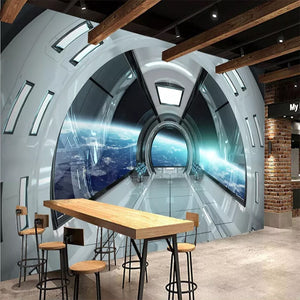 Custom Size Modern 3D Character Universe Space Capsule Mural Home Decor Mural Art Living Room TV Background 3D Wall Paper Roll - WallpaperUniversity