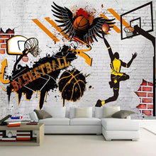 Load image into Gallery viewer, Custom 3D Wall Murals Wallpaper Basketball Poster Photo Background Wallpaper For Bedroom Walls Papel Tapiz Mural Papel De Parede - WallpaperUniversity
