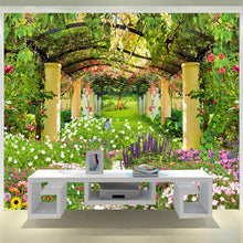 Load image into Gallery viewer, Custom 3D Photo Wallpaper Pastoral Landscape Flower Butterfly Wall Painting Restaurant Living Room Entrance Wall Mural Wallpaper - WallpaperUniversity