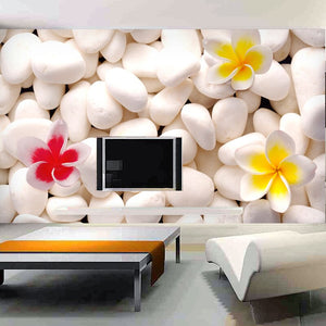 Custom Mural Wallpaper 3D Cobblestone Flower Modern Living Room Sofa TV Background Design Wall Decoration Murale Wall Paper 3D - WallpaperUniversity