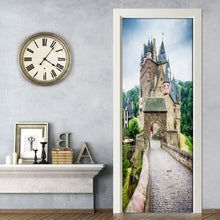 Load image into Gallery viewer, Living Room Bedroom Door Mural Sticker European Ancient Castle PVC Waterproof Self-adhesive Door Decoration 3D Wallpaper Mural - WallpaperUniversity