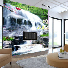 Load image into Gallery viewer, Custom Photo Wallpaper Murals 3D Mountain Water Landscape Waterfall Living Room Restaurant Entrance Wallpaper For Walls Roll - WallpaperUniversity