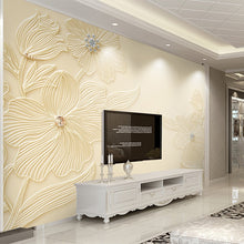Load image into Gallery viewer, Custom Mural Wallpaper High Quality Diamond Flower Pattern 3D Relief Modern Simple Living Room TV Background Wall Painting Paper - WallpaperUniversity