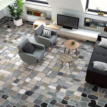 Load image into Gallery viewer, MID-CENTURY MODERN SLATE STYLED Floor Mural - WallpaperUniversity