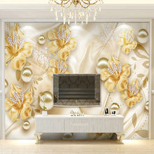 Load image into Gallery viewer, Custom Mural Wallpaper For Walls 3D Diamond Jewelry Flower 3D Wall Painting Art Living Room Sofa TV Background Photo Wall Paper - WallpaperUniversity