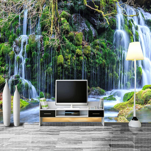 3D Room Wallpaper Custom Mural Non-woven Murales De Pared Modern HD Waterfall Scenery Photo Wall Paper 3D Wall Murals Wallpaper - WallpaperUniversity