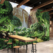 Load image into Gallery viewer, Custom Photo Wallpaper 3D Green Fresh garden Vegetable Mural Wallpaper Living Room Sofa Background Modern Seamless Wall Covering - WallpaperUniversity