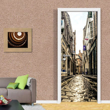 Load image into Gallery viewer, PVC Waterproof Self-adhesive Stickers 3D Wall Paper Mural Evening European City Streets 3D Room Door Wallpaper Home Decor Fresco - WallpaperUniversity
