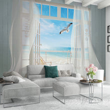 Load image into Gallery viewer, Custom 3D Photo Wallpaper Window Seascape Large Murals Wall Painting Living Room Bedroom Non-woven Home Decoration Fresco Tapety - WallpaperUniversity