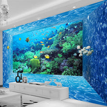 Load image into Gallery viewer, Custom 3D Photo Wallpaper Mural 3D Stereoscopic Space Underwater World Living Room Bedroom TV Background Paper Wall Papers 3D - WallpaperUniversity