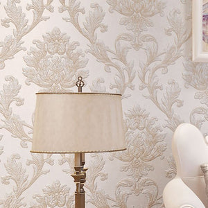 EUROPEAN DAMASK EMBOSSED Wallpaper Wall Covering - WallpaperUniversity