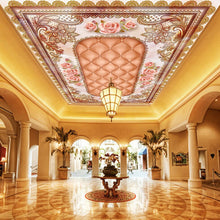 Load image into Gallery viewer, Custom Floor Wallpaper 3D Stereo Marble Soft Pack Flower Pattern 3D Ceiling Painting Vinyl Flooring Murals Wallpaper Waterproof - WallpaperUniversity