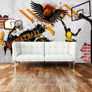 Custom 3D Wall Murals Wallpaper Basketball Poster Photo Background Wallpaper For Bedroom Walls Papel Tapiz Mural Papel De Parede - WallpaperUniversity