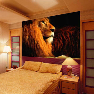 Custom Mural Wallpaper 3D Stereoscopic Animal Lions Large Mural Living Room Bedroom Sofa TV Background Wallpaper Wall Covering - WallpaperUniversity