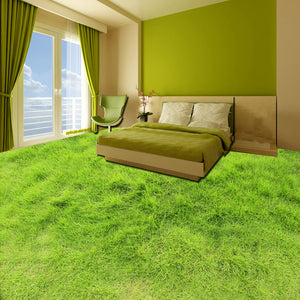 Custom Mural Wallpaper 3D Green Lawn Living Room Bedroom Bathroom Floor Sticker Self-adhesive Waterproof Modern Vinyl Wallpaper - WallpaperUniversity