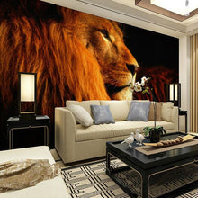Load image into Gallery viewer, Custom Mural Wallpaper 3D Stereoscopic Animal Lions Large Mural Living Room Bedroom Sofa TV Background Wallpaper Wall Covering - WallpaperUniversity