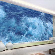 Load image into Gallery viewer, Custom Floor Mural Wallpaper Blue Sea Living Room Bathroom 3D Vinyl Floor Stickers Paintings Self-adhesive Waterproof Wallpaper - WallpaperUniversity