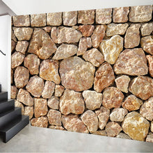 Load image into Gallery viewer, Custom Mural Wallpaper 3D Stereo Embossed Imitation Stone Wallpaper Living Room Bedroom TV Backdrop Wallpaper Papel De Parede 3D - WallpaperUniversity