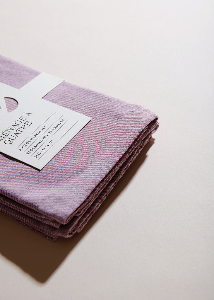 Rosé Chambray Napkins - Set of 4 - cara cara