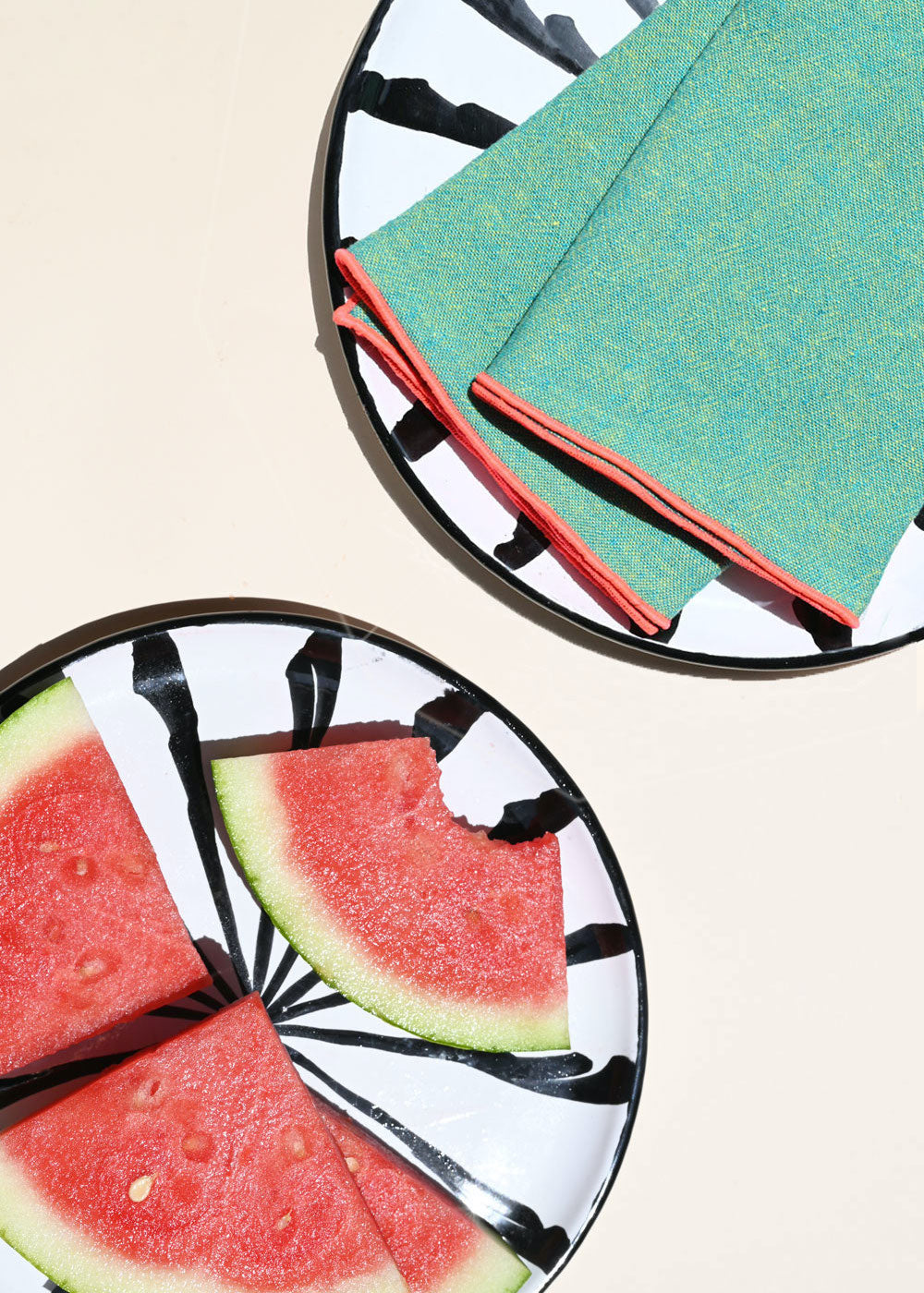 Watermelon Linen Napkins - Set of 4