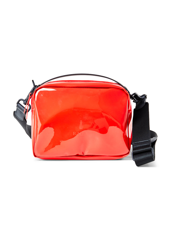 Transparent Box Bag - Glossy Red - cara cara