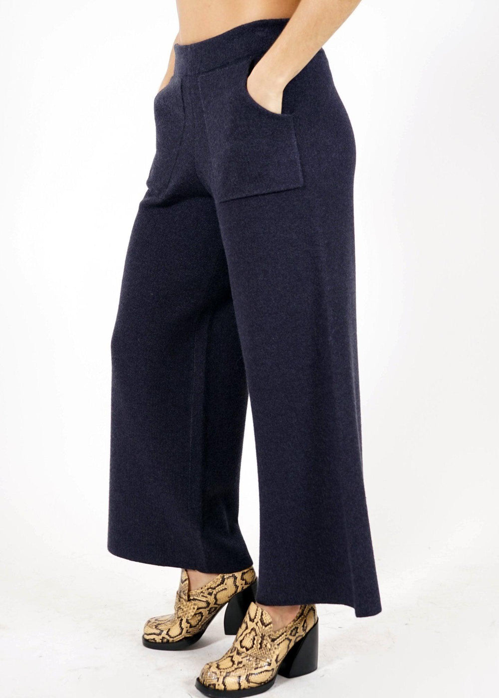 Knit Pant - Indigo Heather