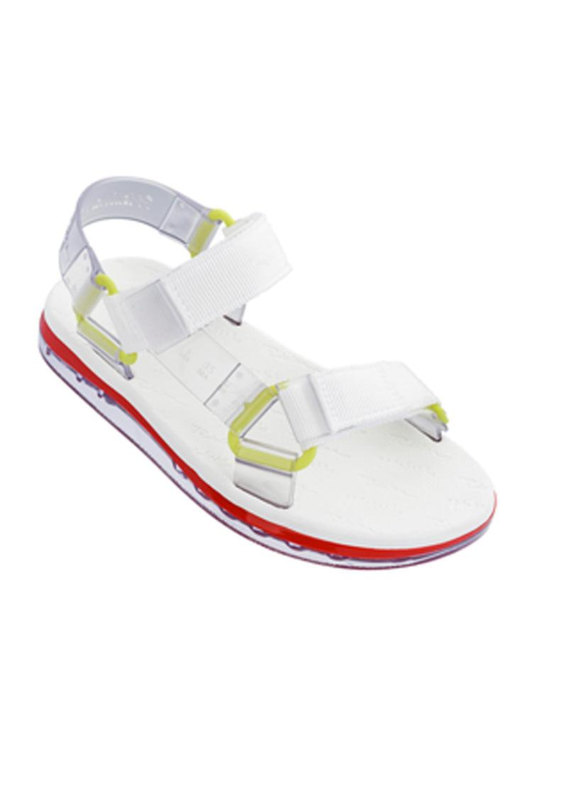 Papete + Rider Sandals - White/Neon Yellow