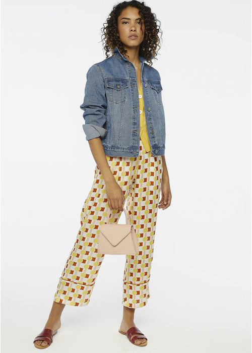 Retro Print Trousers - cara cara