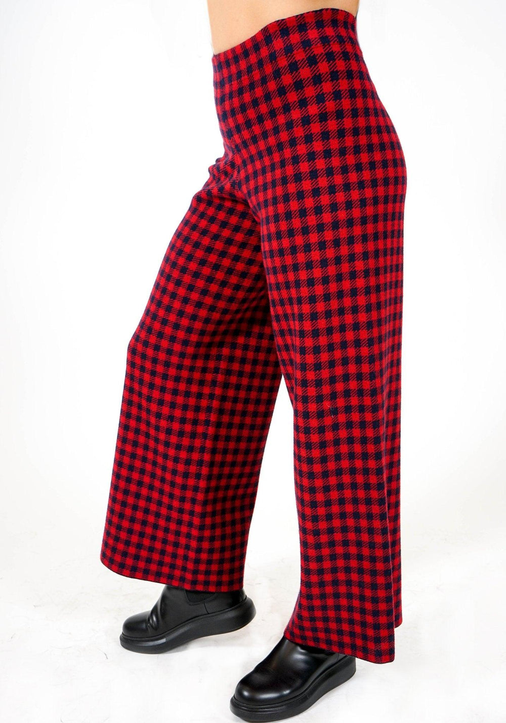 Knit Pant - Red Check