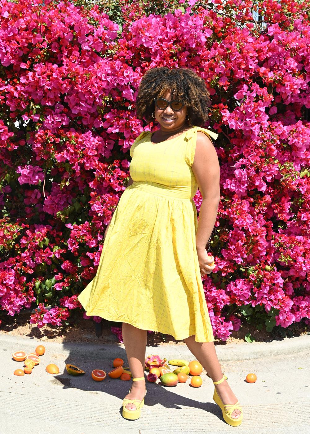 Chrissie Dress - Albern Yellow