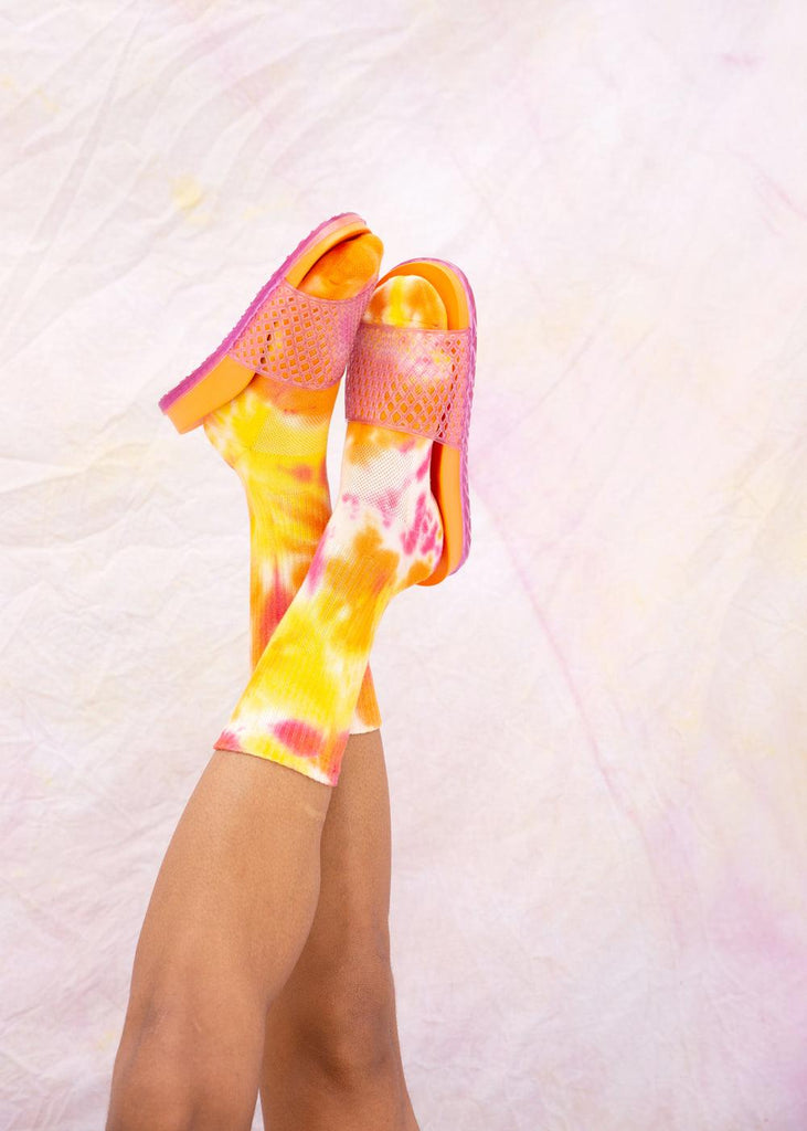 Athletic Socks - All Over Tie Dye - cara cara